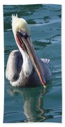Just Wading Beach Towel by Laurie Lundquist