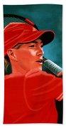 Justine Henin  Beach Towel by Paul Meijering