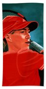 Justine Henin  Beach Towel by Paul Meijering