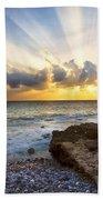 Kaena Point State Park Sunset 2 - Oahu Hawaii Beach Towel by Brian Harig