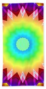 Kaleidoscope Rainbow Beach Towel