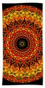 Kaleidoscope Stained Glass Window Series Beach Towel