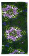 Kaleidoscope Violets Beach Towel