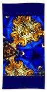 Kaleidoscopic Blues Fdl  Beach Towel