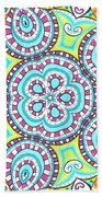 Kaleidoscopic Whimsy Beach Towel