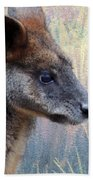Kangaroo Potrait Beach Towel