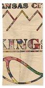 Kansas City Kings Retro Poster Beach Towel