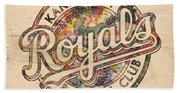 Kansas City Royals Logo Vintage Beach Towel
