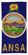 Kansas State Flag Beach Towel