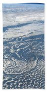 Karman Vortex Cloud Streets From Space Beach Towel