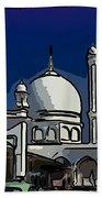 Kashmir Mosque 2 Beach Towel