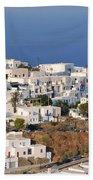 Kastro Village In Sifnos Island Beach Towel