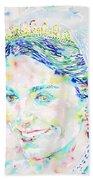 Kate Middleton Portrait.2 Beach Towel