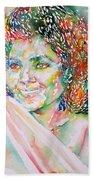 Kathleen Battle - Watercolor Portrait Beach Towel