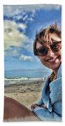 Katie And The Beach Beach Towel