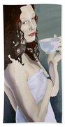 Katie - Morning Cup Of Tea Beach Sheet