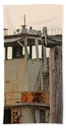 Katrina Ghost Boat And Pelicans Beach Towel
