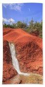Kauai Red Dirt Waterfall Beach Towel