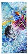 Kayak Crush Beach Towel by Hanne Lore Koehler