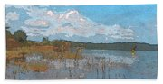 Kayaking At Lake Juliette Beach Towel