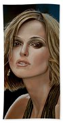 Keira Knightley Beach Towel by Paul Meijering