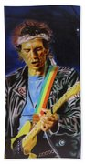 Keith Richards Of Rolling Stones Beach Towel