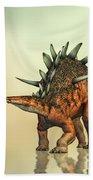 Kentrosaurus Dinosaur Beach Towel by Bob Orsillo
