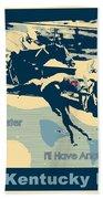 Kentucky Derby Champion Beach Towel by RJ Aguilar