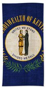 Kentucky State Flag Beach Towel by Pixel Chimp