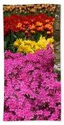 Keukenhof Floral Strata Beach Towel