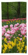 Keukenhof Gardens Panoramic 15 Beach Towel