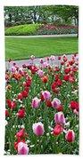 Keukenhof Gardens Panoramic 49 Beach Towel