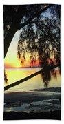 Key Biscayne Sunset Beach Towel