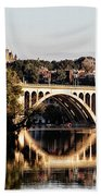 Key Bridge And Georgetown University Washington Dc Beach Towel