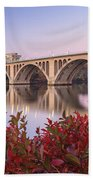 Graceful Feeling - Washington Dc Key Bridge Beach Towel