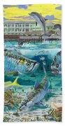 Key Largo Grand Slam Beach Towel by Carey Chen