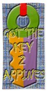 Key To Happiness Beach Towel by Patrick J Murphy