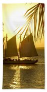 Key West Sunset Beach Towel
