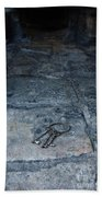 Keys On Stone Floor Beach Towel by Jill Battaglia