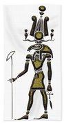Khensu - God Of Ancient Egypt Beach Towel