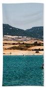Kid Sailing On A Lake Beach Towel