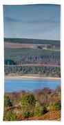 Kielder Dam And Valve Tower Beach Towel