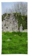 Kilmore Church Ruins - Founded By St Patrick - Ballina Co Mayo Beach Towel