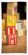 Kim - Alphabet Blocks Beach Towel