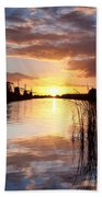 Kinderdijk Sunrise Beach Towel