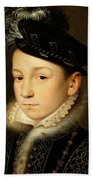 King Charles Ix Of France Beach Towel