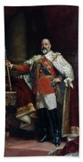 King Edward Vii Of England (1841-1910) Beach Towel