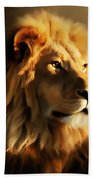 King Lion Of Africa Beach Towel
