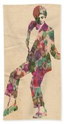 King Of Pop In Concert No 5 Beach Towel