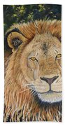King Of The African Savannah Beach Towel